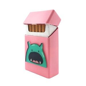 Image 3 - New Cute 3D Badge Silicone Cigarette Box Cigarette Case Cover Smoking Accessories 20 Cigarettes Box Cigarette Holder Tobacco Box