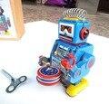 El más nuevo Diseño de Estilos Retro Estaño Clockwork Robot Robot de juguete para Niños Juguetes Clásicos