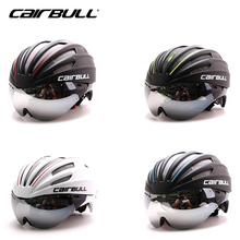 CAIRBULL Ultralight Integrally-molded Cycling Helmet Bike Helmet With Lens TT Goggle Aero Track Bicycle Helmet For Men Women