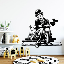 Globalization Chaplin Home Decoration Accessories Funny Wall Sticker Vinyl Art Decor Fashion Poster XL45