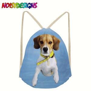 Motyw psa torba ze sznurkiem kobiety Beagle bielizna z nadrukiem sznurkiem torby dla nastolatków podróże plażowe buty sportowe sportowe szmatki