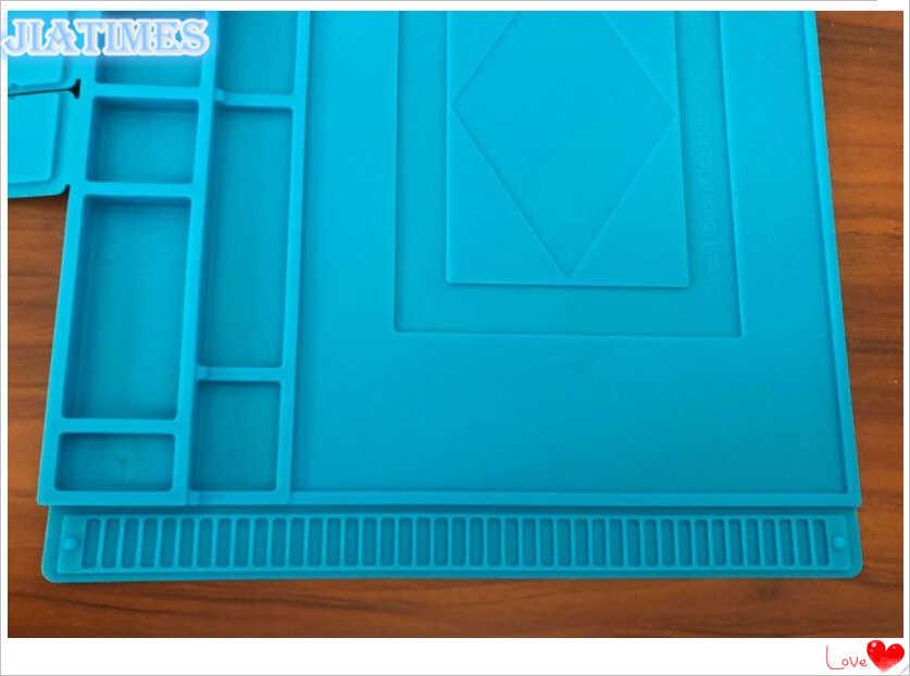 Новый 1 шт. 45x30 см антистатические теплоизоляция силиконовый коврик стол коврики W/магнитный раздел