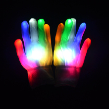 Free Shipping 10pcs(5pairs)/lot 22*11CM 7mode flashing led glove light up for Party supplies
