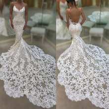 mermaid wedding dresses 2019 sweetheart neckline lace appliques backless fishtai
