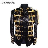 La MaxPa 2017 new style male singer DJ stage costume Club bar hosted Jacket Big Size Outerwear performance suit costumes yy13