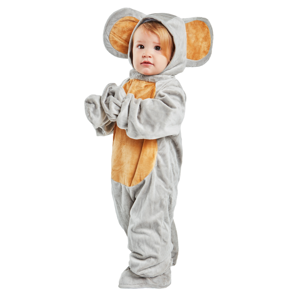 Halloween Cosplay For Baby Soft Toddler Jumpsuit Animal Clothing Little Grey Mouse Costume