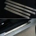 O Envio gratuito de aço Inoxidável do peitoril da porta da placa do scuff 4 pçs/set Acessórios Do Carro Para VW Volkswagen Touran 2004-2013