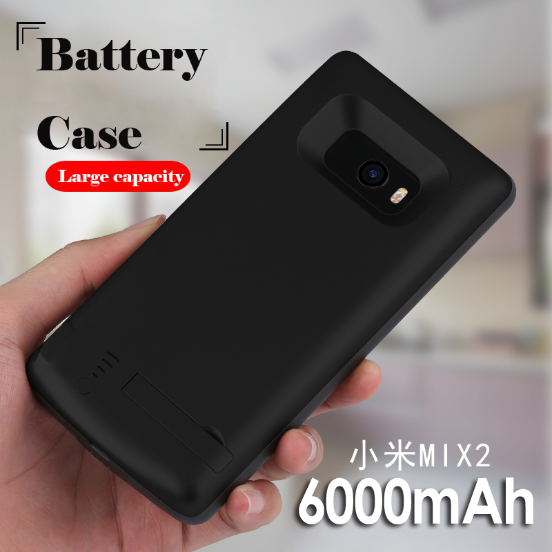 In All 6000mAh Battery Case For Xiaomi Mi Mix 2 Smart USB Charger Cover For Xiaomi mi Mix 2 Bracket Power Bank Capa Fundas