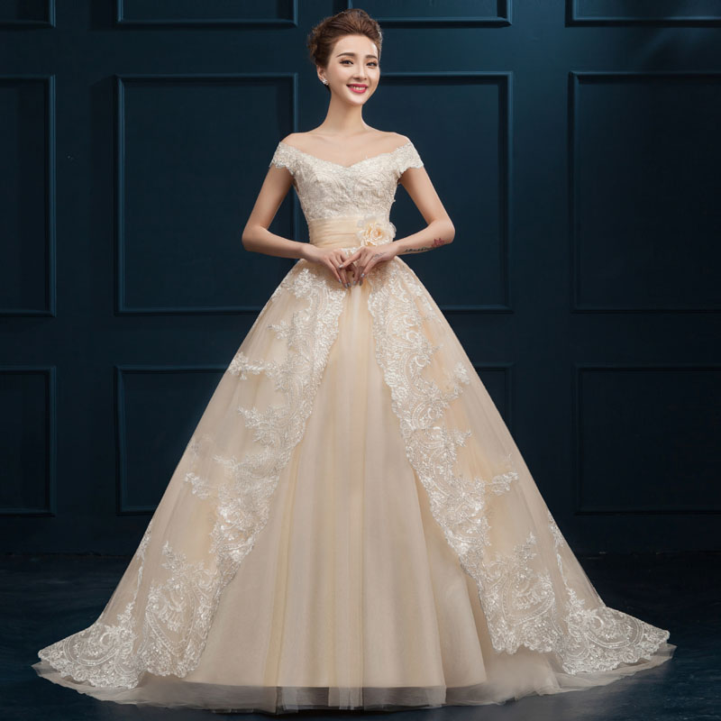 MZMSRHS Arabic Ball Gown Lace Wedding Dresses 2017