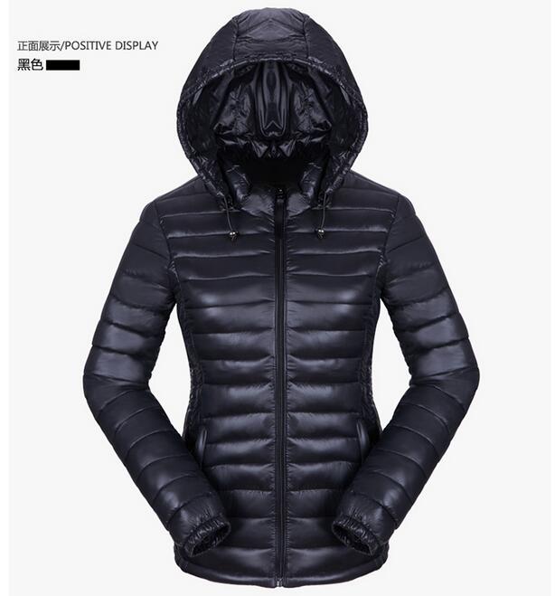 2017 Winter Jacket Women Down Warm Jacket Outwear Ultralight Hooded Thin Coat Down Parka Cotton padded