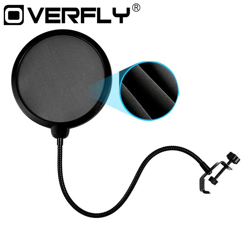 Ovefly Double-layer-studio-mikrofon Mic Windschutz Pop Filter/Swivel Mount/Maske Gescheut Für Sprechen Aufnahme
