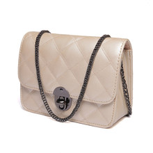 Stylish Crossbody Bag 2016 New Classic Rhombic Chequer MINI Chain Bag Women Fashion Ladylike Shoulder Bag