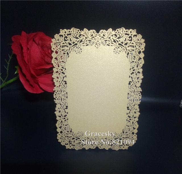 online shop 30pcs laser cut gold flower rose design single paper