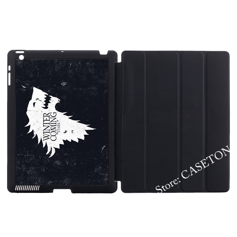Game of Throne House Stark Smart Cover Case For Apple iPad Mini 1 2 3 4 Air Pro 9.7