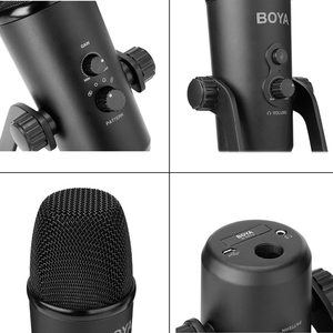 Image 4 - BOYA BY PM700 USB Condenser Microphone Desktop MIC for PC Computer Laptop Mac Interview Conferen Recording Video Podcast Live