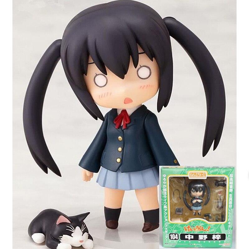 104 # Anime K-Sur! jouets chiffres 2ème Nakano Azusa Nendoroid PVC figure toy dans la boîte au détail 10 cm