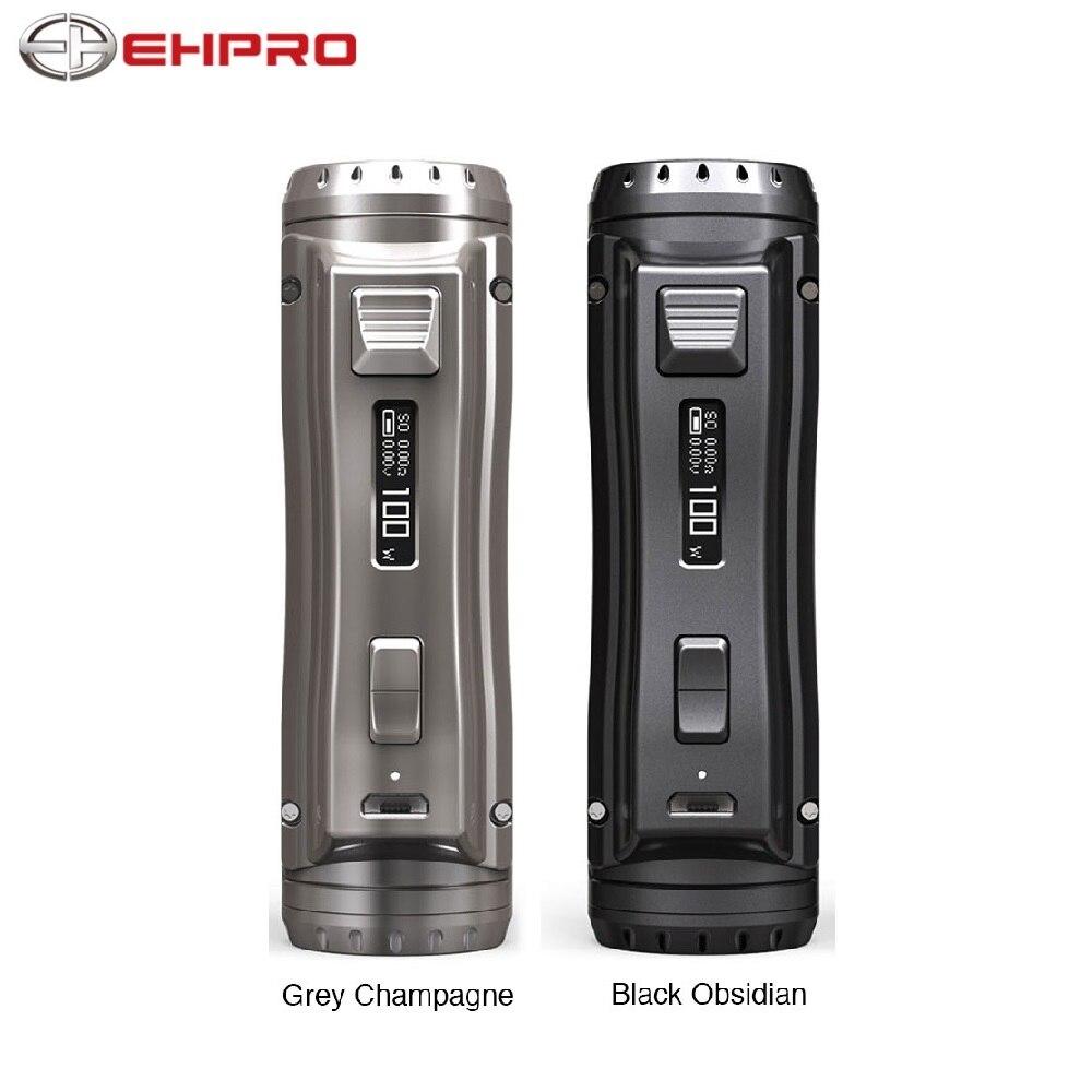 Original Ehpro acier froid 100 120W TC Box MOD vitesse de cuisson rapide e-cig Vaping Mod alimenté par batterie 18650/20700/21700 Vs glisser 2