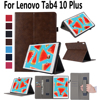 Hand Hold Premium Leather Case For Lenovo Tab4 10 Plus Cover TB X704L X704L Stand Smart