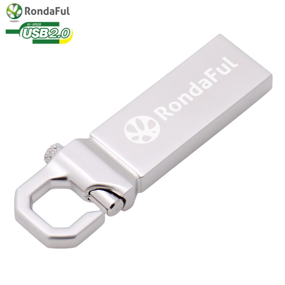 Waterproof Metal Pen drive Usb 2.0 usb Flash drive 64GB 32GB 16GB 8GB 4GB Pendrive flash disk u disk Memory disk Real Capacity