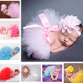 Lovely Pink Color Fluffy Baby TUTU Skirt&Headband Set Newborn Baby Photography Props Infant Baby Girl Tulle TUTU for Newborn