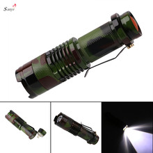 SANYI LED Mini Flashlight Camouflage Tactical Mini Torch 2000lm Zoomable 3-Modes Light Lamp Linternas for Camping,General Use