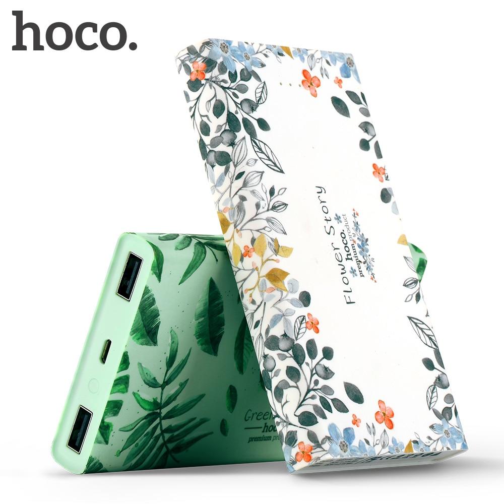HOCO fashion 13000 mAh USB Charge Power Bank External Battery Portable Phone Charger Dual USB Charging 20000 mAh for iPhoneX 7 8