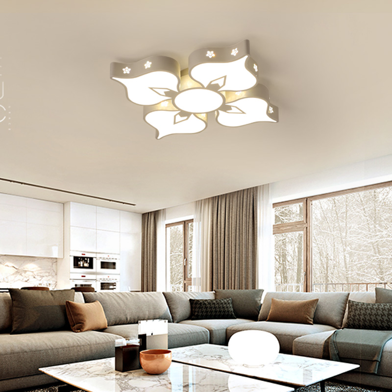 New Arrival Acrylic Modern Led Ceiling Lights For Living Study Room Bedroom 3 heads 4 heads flower shape new arrival 3 4persons one bedroom