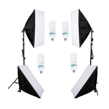 single socket softbox 4*135w lamp set photography light softbox set photographic equipment Photo Studio Equipment Set цена в Москве и Питере