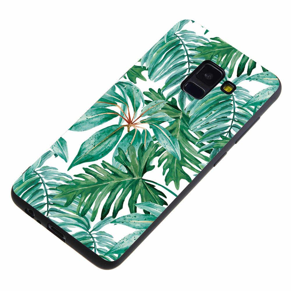 Cubierta del teléfono para Samsung J8 J3 J4 J6 2018 J5 J7 Prime J1 J2 J3 J5 J7 2016 corazón encantador flores de mármol carcasa suave Funda Coque