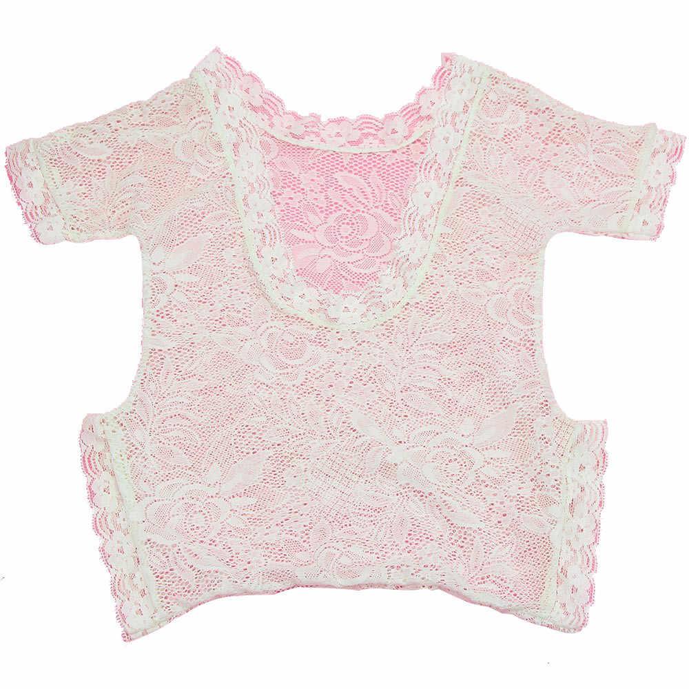 新生児女の赤ちゃん写真プロップレースロンパースジャンプスーツ王女の服 2.64