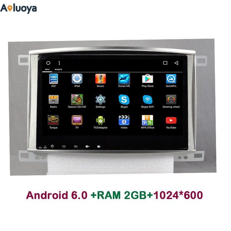 Aoluoya 2 ГБ Оперативная память 4 ядра Android 6.0 автомобиль DVD Радио GPS навигации для Toyota Land Cruiser 100 LC100 Lexus ix470 зеркало Ссылка 3G