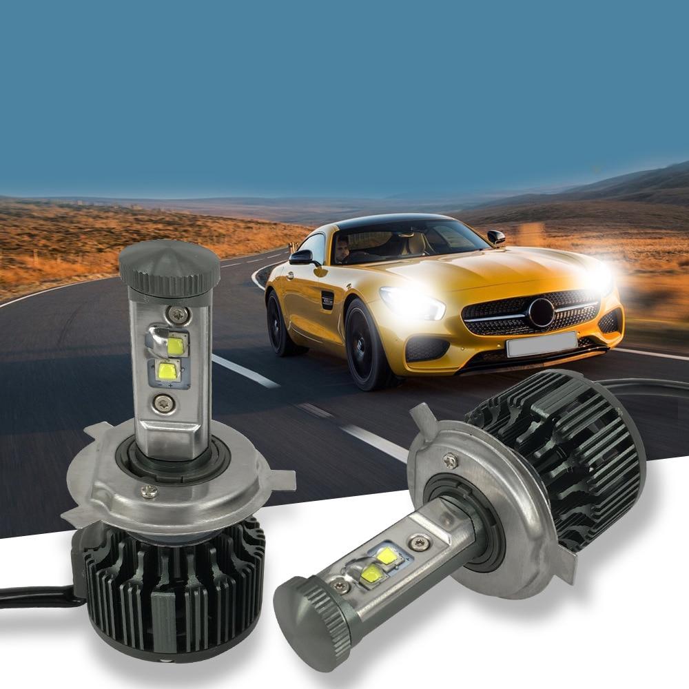 Car LED H4 HB2 9003 Leds High Power 40W 3600lm 6000K Strong Bright Cars Headlight Fog Lamp Conversion Kit Car-Styling