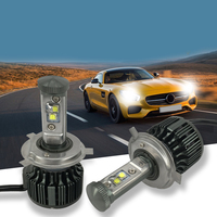 Car LED H4 HB2 9003 Leds High Power 40W 3600lm 6000K Strong Bright Cars Headlight Fog Lamp Conversion Kit Car Styling
