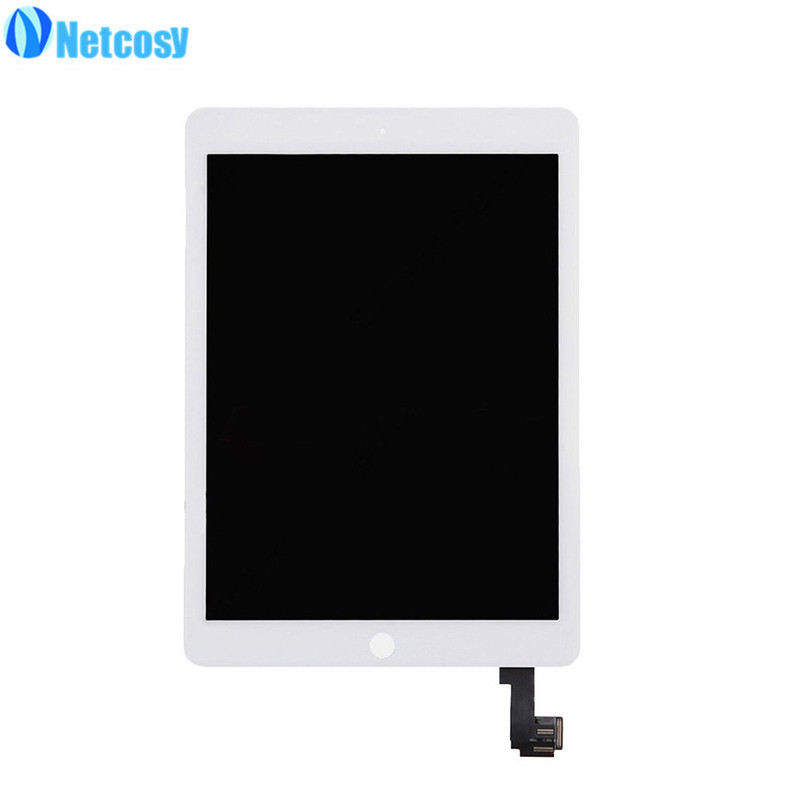 Netcosy For iPad Air 2 A1567 A1566 LCD Screen High quality LCD display+Touch screen assembly Replacement parts for ipad 6 pcu p247a high pressure bars for lq104s1lg61 lcd display screen