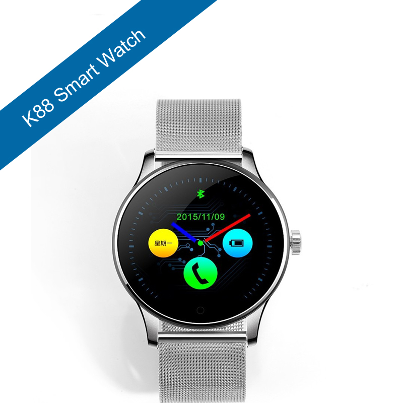 ФОТО LiuKer K88 Bluetooth Smart Watch Classic Health Metal Smartwatch Heart Rate Monitor for Android ISO Phone Remote Camera Clock