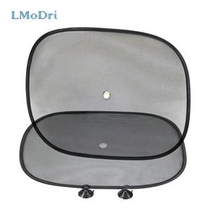 Image 1 - LMoDri 2Pcs Car Curtains Sunshade Blocker Black UV Mesh Sun Shades For Front Side and Rear Window Auto Styling Sucker 44*34cm