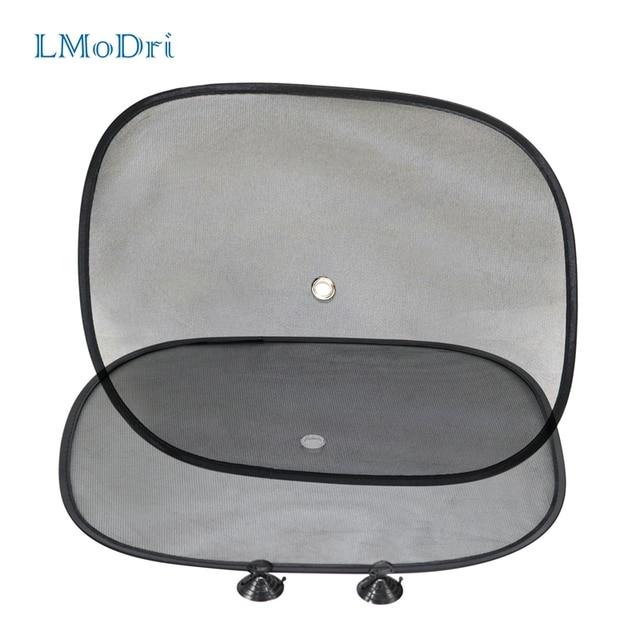 LMoDri 2Pcs Car Curtains Sunshade Blocker Black UV Mesh Sun Shades For Front Side and Rear Window Auto Styling Sucker 44*34cm