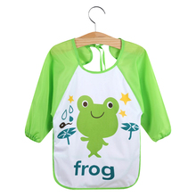 Waterproof Animal Design Sleeved Bib For Baby