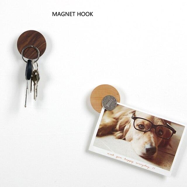 Decor Wood Key Holder Wall Key Storage Organizer Strong Magnetic Key Rack  Hanger Key Ring Hooks