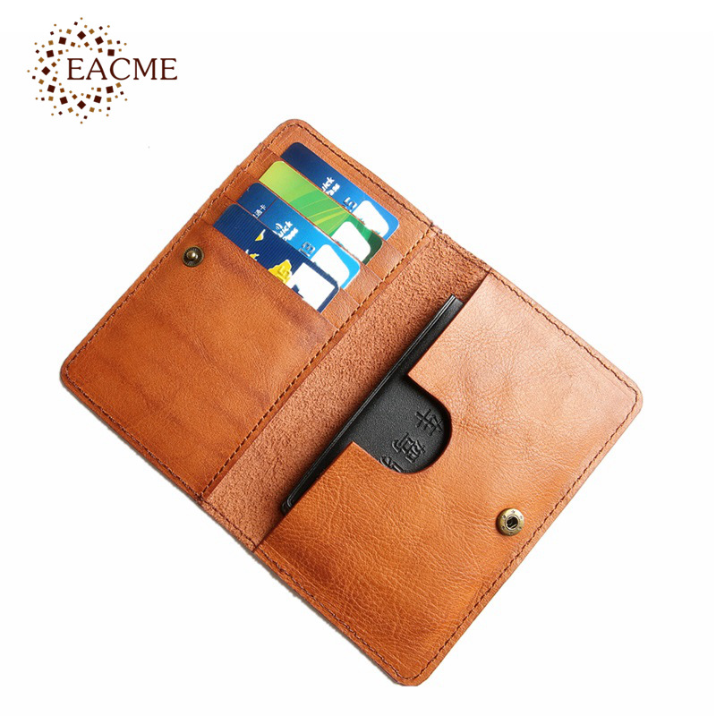 EACME Handmade Vintage Leather Passport holder Card Pack Business ...