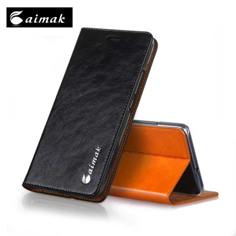 imágenes para Aimak Alta Calidad Caja Del Cuero Genuino para Sony Xperia T2 Ultra Vintage Cubierta Del Caso Del Tirón para Sony Xperia T2 Ultra XM50H D5322