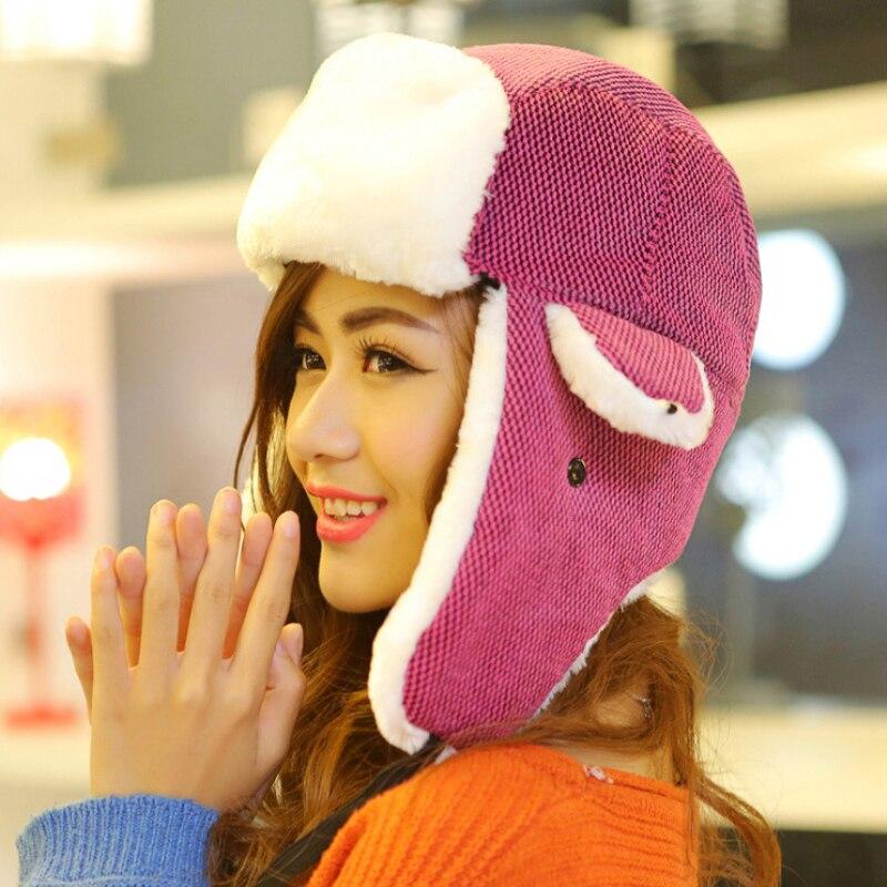 Winter Hats Trapper-Hat Earflap Women Fashion Unisex Plaid for Hot-Sale Bomber Warm Russian
