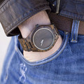 2016 Nueva Negro Natural Sandal Wood Reloj Analógico Aismei Japón MIYOTA Movimiento de Cuarzo Relojes Vestido Reloj de pulsera De Madera Para Unisex