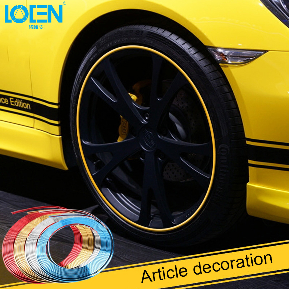 8M Plating Auto Rim/Tire Protection Car Wheel Protector Hub Sticker Car Decorative Strip Care Covers Drop Ship Car-styling
