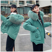 Harajuku winter Women's Coat Windproof thicken Women Parka Plus Size Hooded High Quality Warm Cotton female Jackets Outwear 186