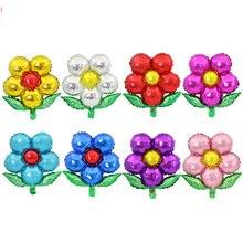 1 шт. 55x58 см цветы алюминиевый шарик DIY красивые для Свадебные украшения День рождения Рождественские воздушные шары прекрасные дети
