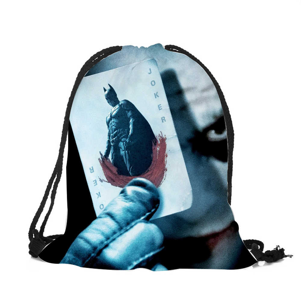 ... Unique Pattern Sac de Cordon Drawstring Bag Horror movie Character Skull  Printing Super Quality Polyester Backpack ...