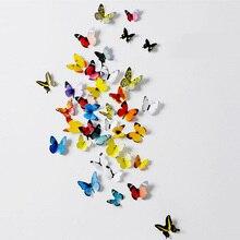 Art design 3d Butterfly Tatoos Wall Sticker Home Decoration Adesivo Parede