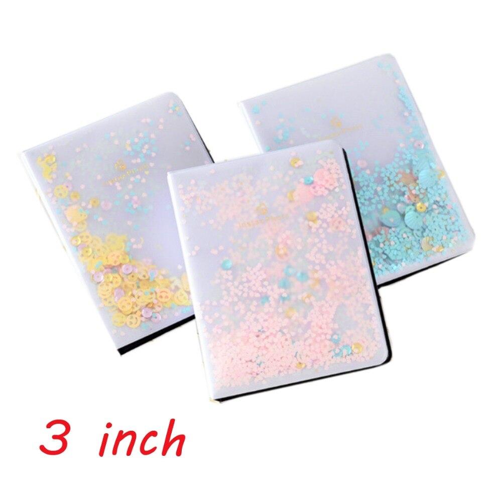 64 Pockets Mini Colorful Quicksand Sequin Photo Album For Fuji Instax Mini LiPlay 7s 8 9 70 90 SP1 Camera Film or 3 inch Photo