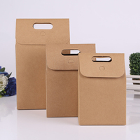 20pcs Kraft Candy Boxes 350gsm paperboard stand box Gifts Packaging Boxes Wedding Favor paper tote Bags 3 sizes option